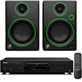 Teac CD-P650-B Compact Disc Player with USB and iPod Digital Interface Bundle with Mackie CR Series CR3 - 3'' Creative Reference Multimedia Monitors (Pair)