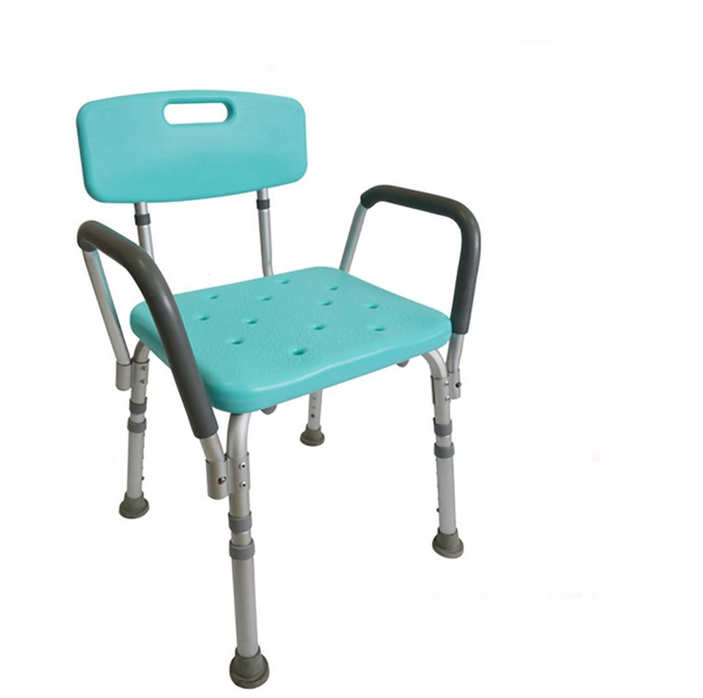 Amazon.com: HEPQ Shower Chair with Back Height Adjustable Seat ...