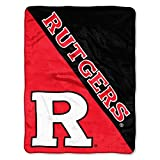 The Northwest Company Officially Licensed NCAA Rutgers Scarlet Knights Halftone Micro Raschel Throw Blanket, 46' x 60', Multi Color