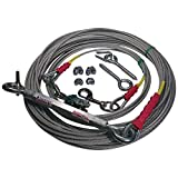 Freedom Aerial Dog Runs 100 FT FADR-100/SD/HD Select Kit Strength Lead Line Length (Heavy Duty (Dogs up to 70 Pounds), 35 FT Lead Line Length)
