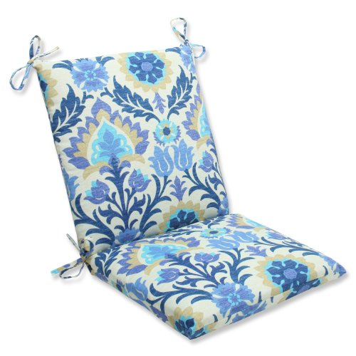 Pillow Perfect Outdoor Santa Maria Squared Corners Chair Cushion, Azure by Pillow Perfect