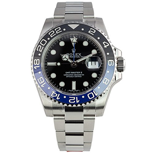Rolex GMT Master II 2 Steel Black Blue Ceramic Bezel (Large Image)