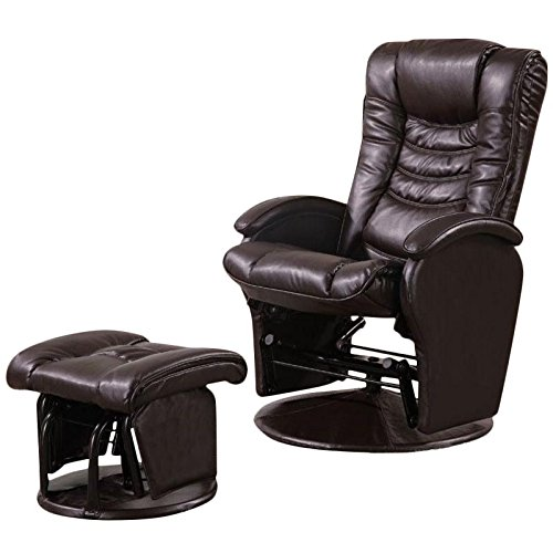 faux leather glider recliner chair