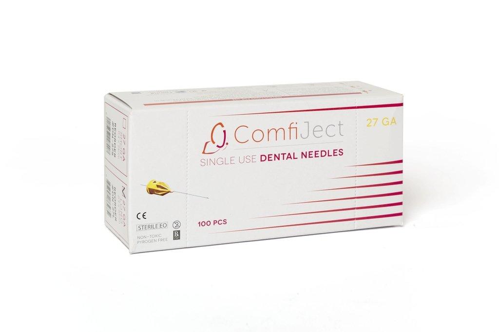 Essentials DN-27L Essentials Premium Dental Needles 27 g x 30 mm LONG (0.4 x 30 mm) Box/100