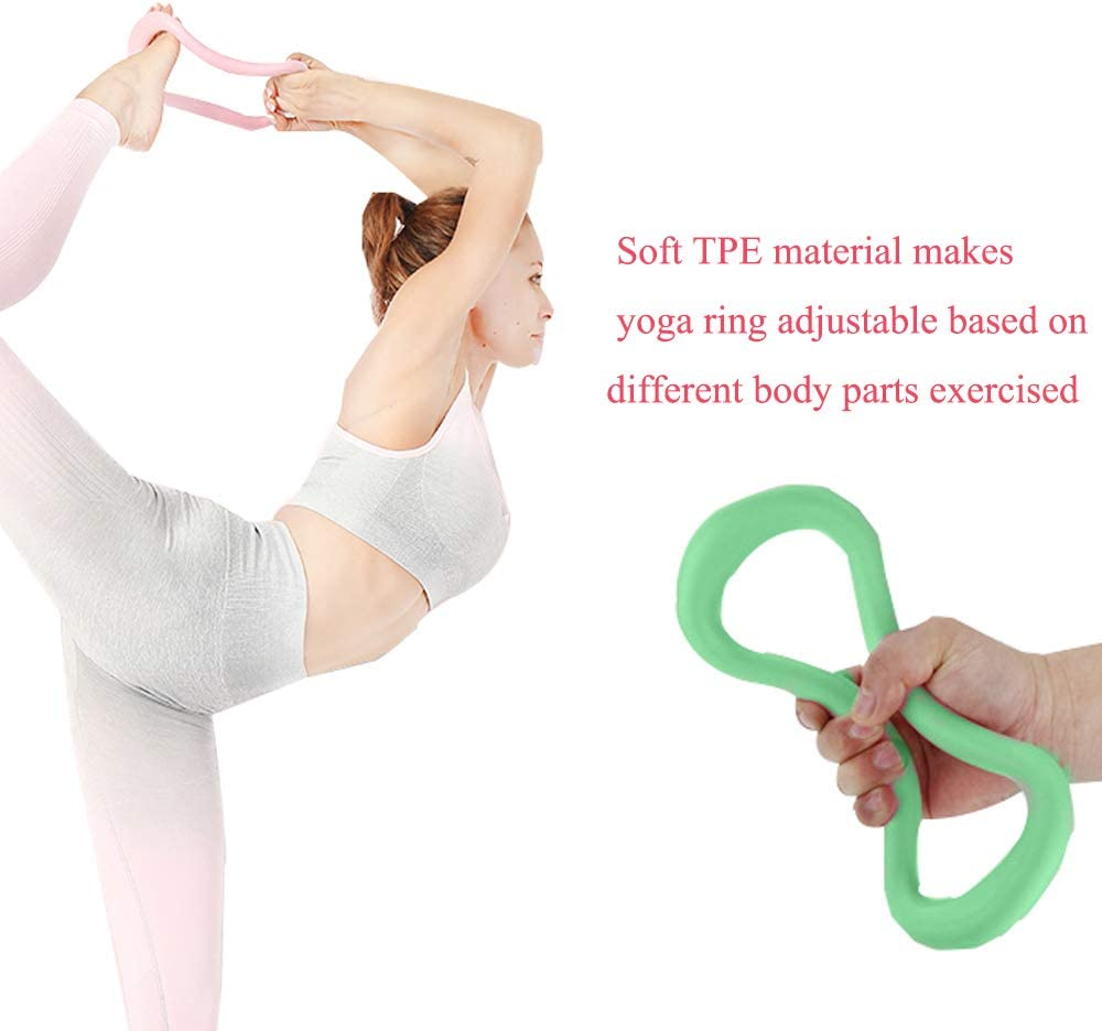 New 2Pcs Soft Yoga Pilates Ring Exercise Sport Fitness Tool High Quality