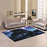 Custom Angry werewolf Area Rug 5'x3'3'' Indoor Soft Carpet
