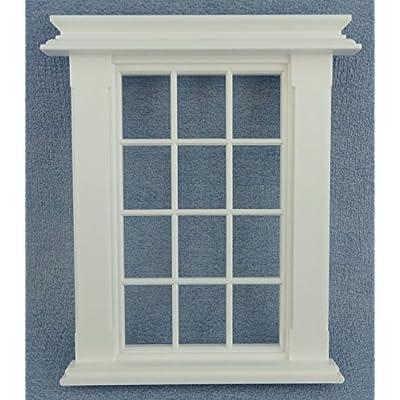 Melody Jane Maison de poupées miniature plastique blanc GÉORGIEN cadre de fenêtre 12 Panneau Do It Yourself constructeurs