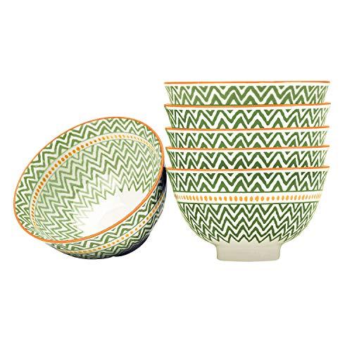 - Porcelain Serving Bowls Set for Sauce, Snack, Dessert, Candy, 6 Piece, Microwave Safe (4.5