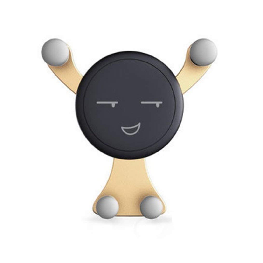Support de smartphone, Kawaii Expression du visage Design Ventilation de voiture Ventilation Support de ventilation Ventilation de véhicule Support de berceau Montage pour téléphone portable Swiftswan