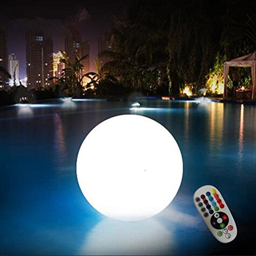 16 RGB Colors Remote Control Rechargeable LED Orb Night Light for Indoor to Outdoor, Cordless WaterProof LED Color Changing Mood Light Ball for Home Garden or for your Wedding Decoration (6 inch) by Acmee