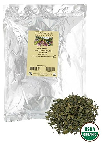 Starwest Botanicals Organic Nettle Leaf Tea Loose Cut and Sifted, 1 Pound Bulk ()