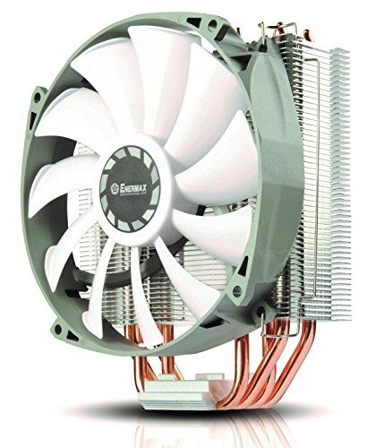 Enermax ETS-T40 Fit Outstanding Cooling Performance CPU Cooler 200W Intel/AMD 140mm PWM Fan - Silver/White, ETS-T40F-RF