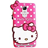 Dcent Hello Kitty Silicone With Pendant Back Cover For Lenovo Vibe K5 Note -Pink