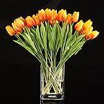 10pcs-Wholesale-Tulip-Flower-Latex-Real-Touch-for-Wedding-Bouquet-Decor-Best-Quality-Flowers-KC454-orange-tulip