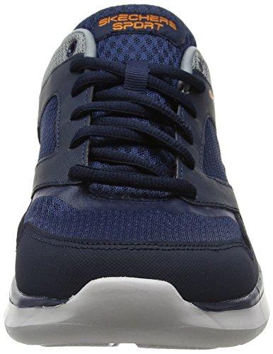Skechers Herren Quantum Flex-Hudzick Laufschuhe Blau (Navy/gray)