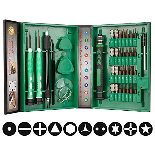 38 in 1 Precision Screwdriver Set Repair Tool Kit for iPad, iPhone, Laptop and more Tablet Computer Electronic Devices