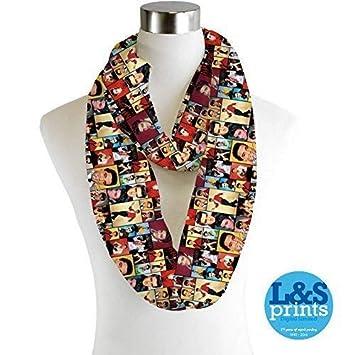 Infinity Schal Trikot oder Chiffon Darts Design Unisex Fashion Schleifen Schal