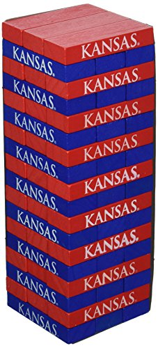 Wild Sports NCAA College Kansas Jayhawks Table Top Stackers Game ()