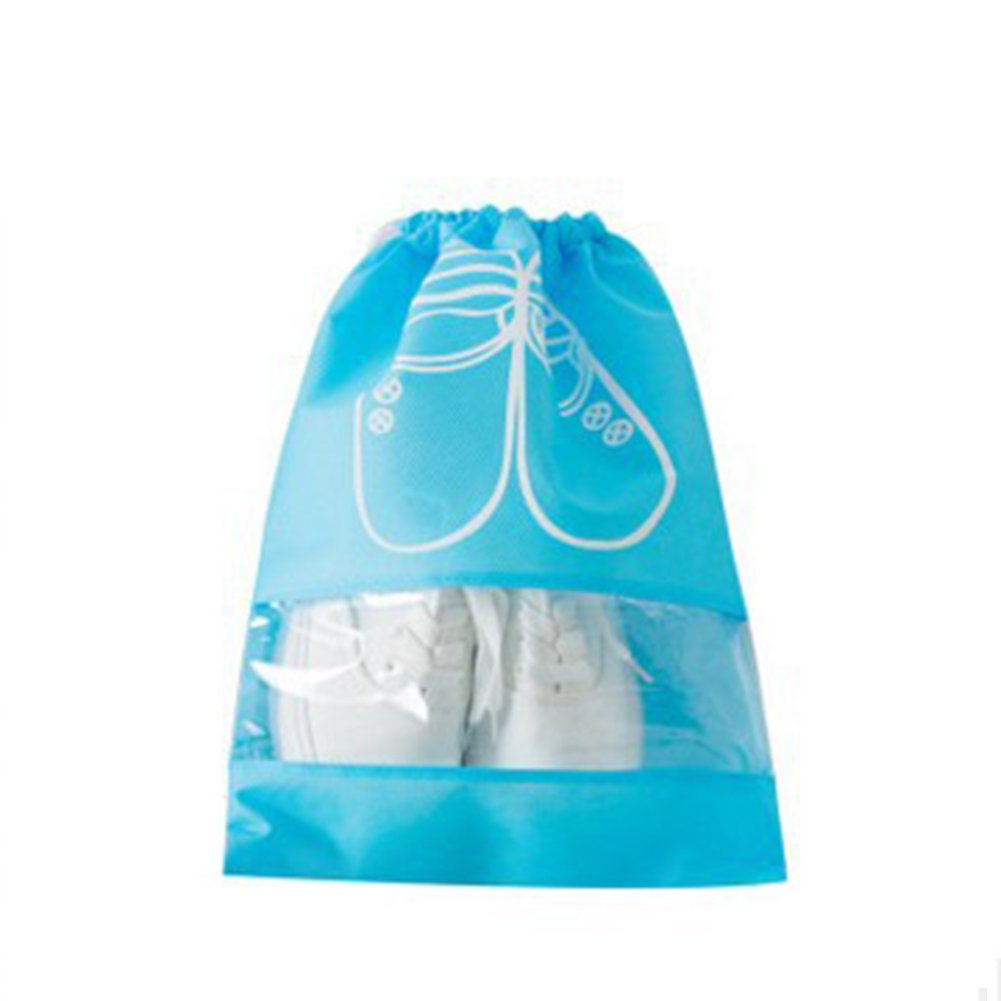 yingyue Portable Durable Waterproof Shoes Storage Bag with Drawstring Travel Business Accessories M Sky Blue