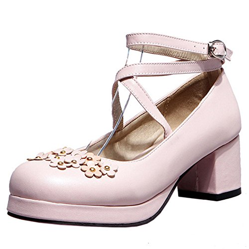 Bowknot Femmes Talons Light Taoffen Escarpins Moyens Pink IAwZWBq1