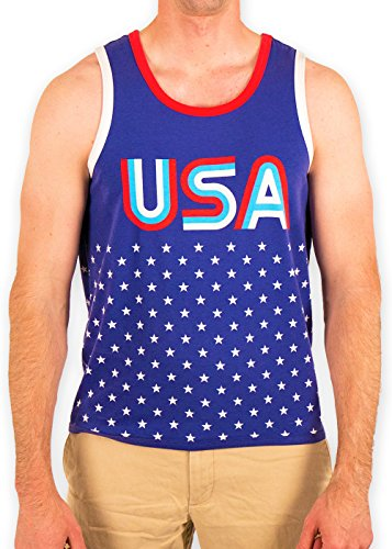 Festified Men's USA Dawn's Early Light Patriotic Tank Top Shirt - Tank Early