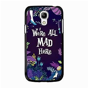 Samsung Galaxy S4 Mini Mobile Phone Case,Beauty Fashion Alice in Wonderland Design Premium Phone Shell Case Alice in Wonderland Movie Series
