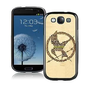 Hunger Games Black Durable Hard Shell Samsung Galaxy S3 I9300 Phone Case