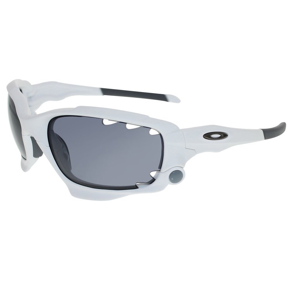0533675acce Amazon.com  Oakley Jawbone Sunglasses Matte White Frame Grey Vented Lens  42-495  Oakley  Clothing