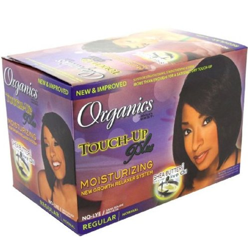 Africa'S Best Organics Touch-Up Plus Organic Conditioning No-Lye Relaxer System Regular (One Application) ()