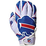 NFL Buffalo Bills Youth Receiver Gloves,White,Medium