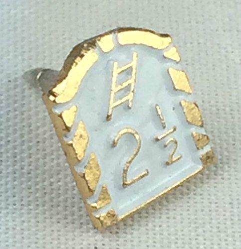 Orange Lodge 21/2Pin's (épinglette Badge en émail blanc petit