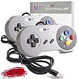 New SNES Super Nintendo Controller, iNNEXT Retro USB Super Classic Controller for PC / Mac / Linux / Raspberry Pi (Multicolored Keys) (2 Pack)