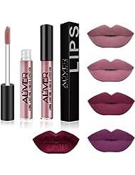 AL'IVER Matte Liquid Lipstick 5 PCs Lip Stains Waterproof Durable Long Lasting Lip Gloss Set Moisturizing Lipstick Lip Tints Set