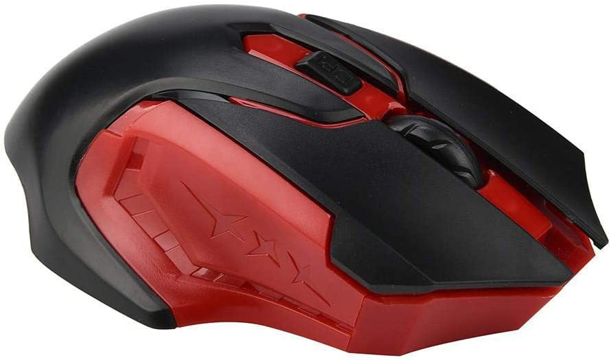 2.4GHz 3200DPI Wireless Gaming Mouse Optical Game Mice for Computer PC Laptop 20A Red