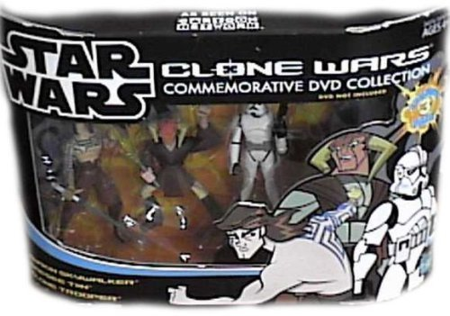 (Star Wars: Clone Wars Animated Commemorative DVD Collection and gt; Commander Cody, Obi-Wan Kenobi and General Grievous (Animated) Action Figure Multi-Pack)