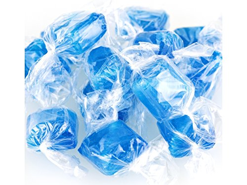 (Primrose Ice Blue Mints Wrapped mint squares peppermint flavor hard candy (1Lb))