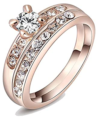 Buy Kaizer three in one 18k Rose Gold Plated Wedding Ring for