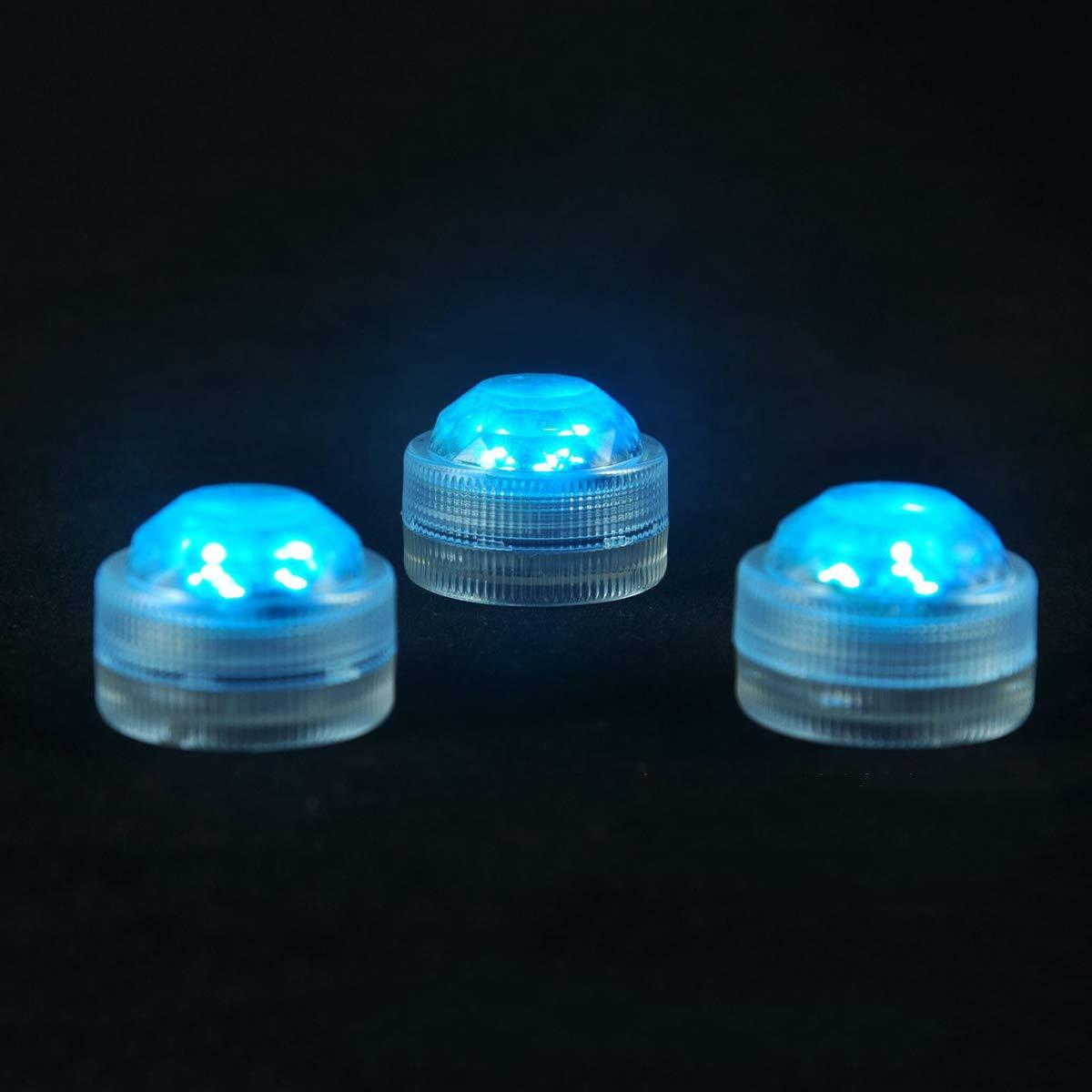 Luces sumergibles sumergibles impermeables de la bater/ía LED del t/é de la boda de 10pcs sub submarinas con el regulador
