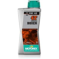 Motorex Boxer 4T 5w40 Engine Oil, 33.8 Liquid Ounces (1 Liter), For Water-Cooled Boxer Engines