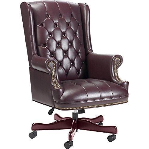 Lorell 60603 Exec High-Back Chair, Vinyl, 30