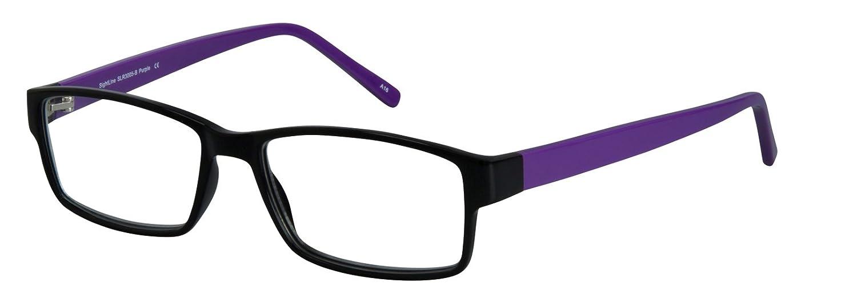d9cf0eff6b0 No-Line Trifocal Reading Glasses. Plastic Rectangular Frame with Anti Glare  Coated Lenses (3.00