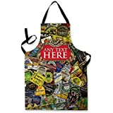 PERSONALISED BEER LABEL BEER MAT DESIGN APRON KITCHEN BBQ COOKING PAINTING MADE IN YORKSHIRE by L&S PRINTS