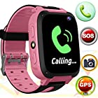 Kids Smart Watch Phone - GPS Tracker Watch Wrist with 3-12 Year Old SOS Sim Card Slot Camera Game Touch Screen Smartwatch Outdoor Electronic Learning Toys Thanksgiving for Boy Girl Kids Birthday Gift