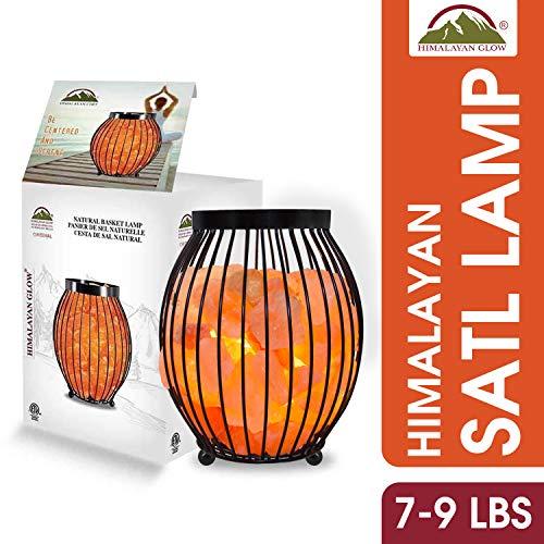 Himalayan Glow 1345 Oval Style Basket Night Salt Lamps, 7-9 Pounds
