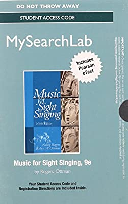 MySearchLab with Pearson eText -- Student Access Card -- for Music for Sight Singing (9th Edition)