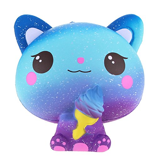 ZERMDIEY1 Ice Cream Cat Squishy Jumbo Super Slow Rising Squeeze Stress Relief Squishies Scented Squishys Kids Toys (Galaxy Blue) by ZERMDIEY1