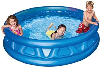 Amazon.com: Intex 58431EP 74x18 Inch Inflated Soft Side Pool: Toys U0026 Games