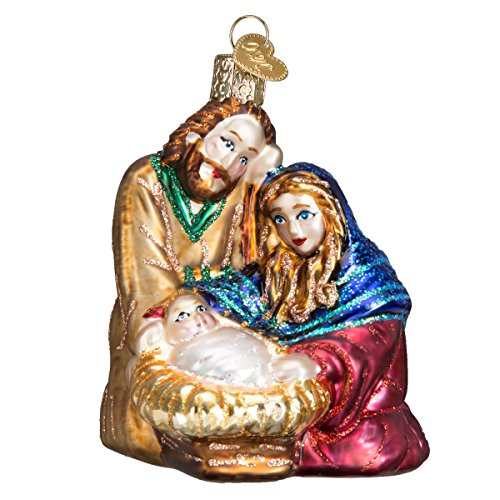 Old World Christmas Ornaments: Holy Family Glass Blown Ornaments for Christmas Tree