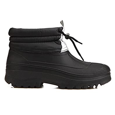 Amazon.com | New Mens Warm Waterproof Winter Snow Rain Boots Black ...