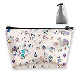 Trapezoid Toiletry Pouch Portable Travel Bag Summer Bondi Beach Clutch Bag